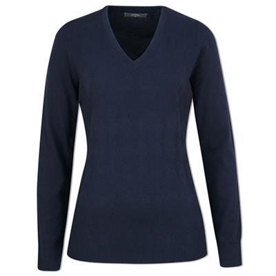 Pull Ribbed Coton Femme (bleu)