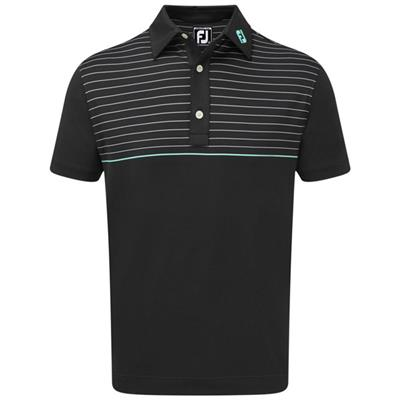 Polo Stretch Lisle Engineered Pinstripe noir (90090)